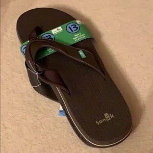 Sanuk men's beer cozy flip flop soft slippers 13